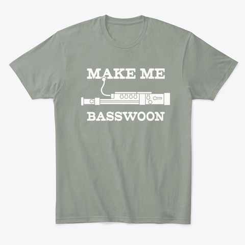 Funny Make Me Swoon Bassoon Player Grey T-Shirt Front