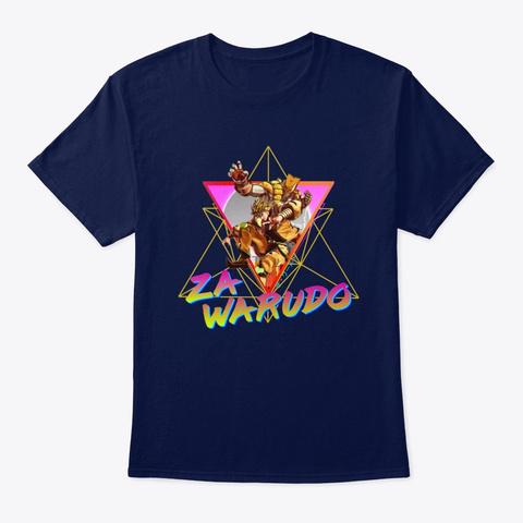 Za Warudo Aesthetic (Jojo) Navy T-Shirt Front