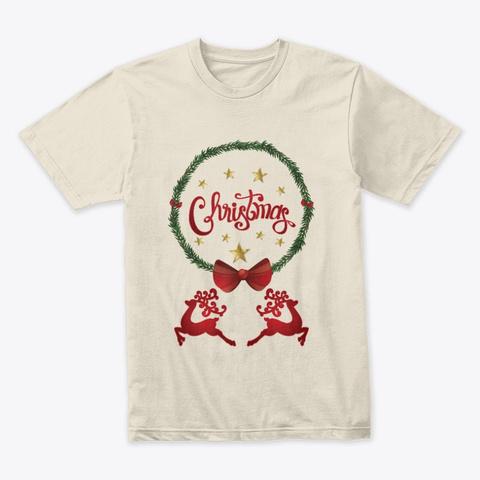Christmas T Shirts Cream T-Shirt Front