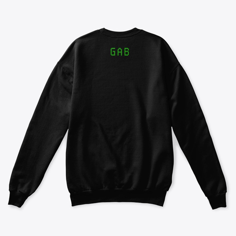 Alien Basic Sweatshirt Black T-Shirt Back