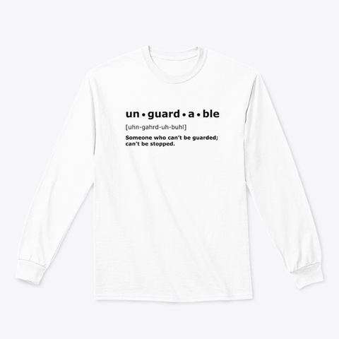 Unguardable | White Long Sleeve White T-Shirt Front