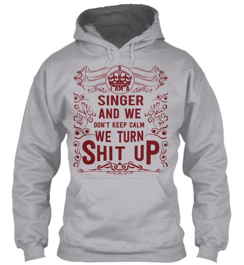 Singer Sport Grey T-Shirt Front
