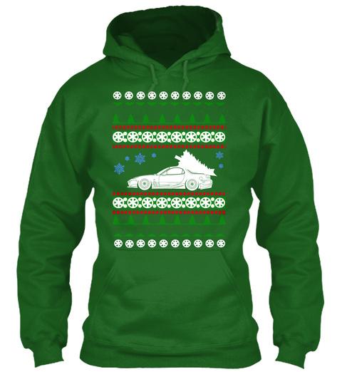 Mazda Rx 7 Ugly Christmas Sweater Irish Green T-Shirt Front