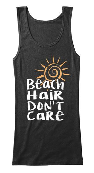 Beach Hai R Don't Ca Re Black Women's Tank Top Front