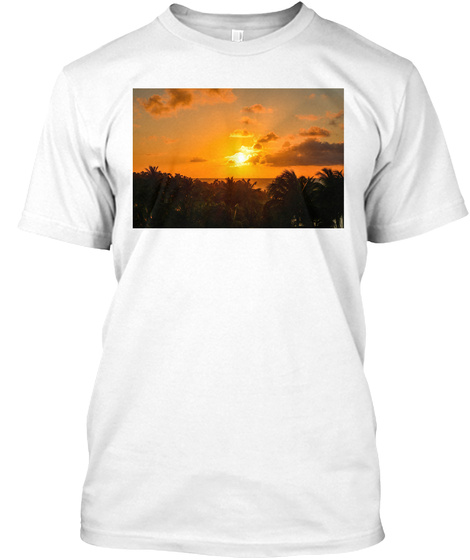 Cool Sunset In Jamaica  White T-Shirt Front