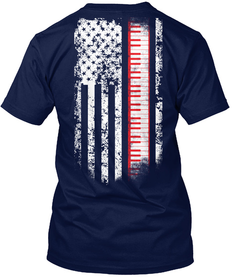 Limited Edition   Piano Navy T-Shirt Back