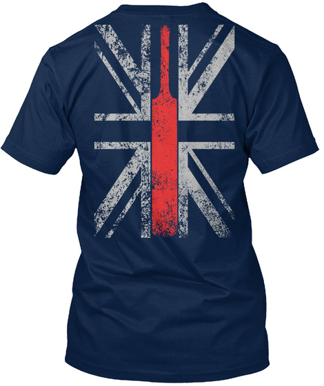 Uk Flag   Cricket Edition Navy T-Shirt Back