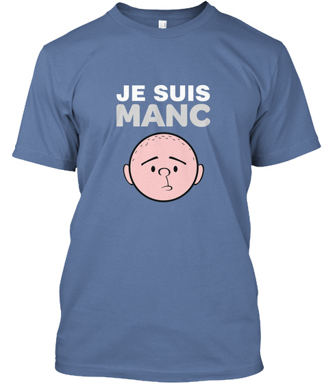 Je Suis Manc Denim Blue T-Shirt Front