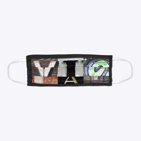 Artsy Alphabet   Viola   Face Mask Black T-Shirt Flat