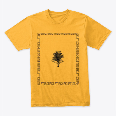 Kletische Tree Shirt Gold T-Shirt Front
