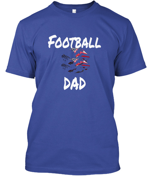 Football  Dad Deep Royal T-Shirt Front