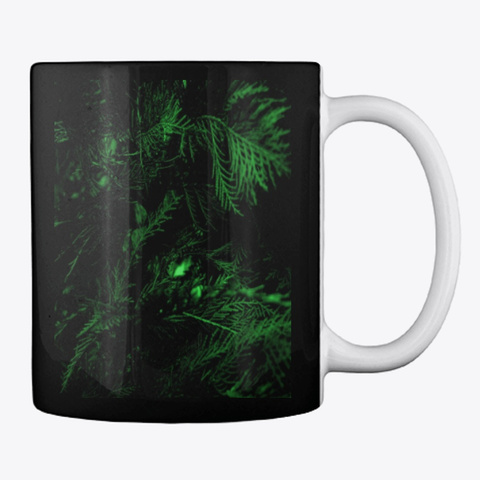 Green Cypress Black T-Shirt Back