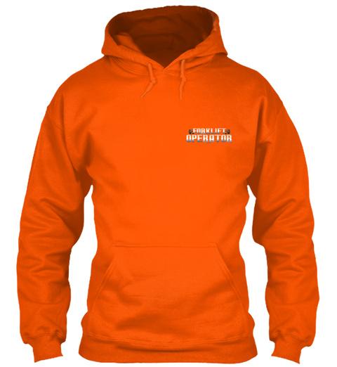 Forklift  Operator Safety Orange T-Shirt Front
