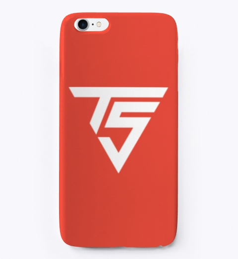Red / White I Phone Cases Red T-Shirt Front