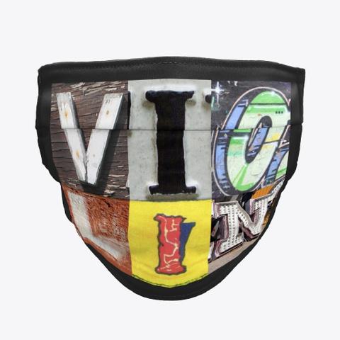 Artsy Alphabet   Violin   Face Mask Black T-Shirt Front