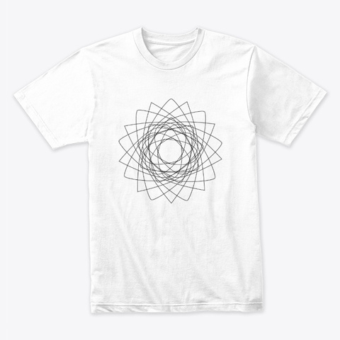 Math Sacred Geometry White T-Shirt Front