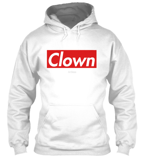 Clown White T-Shirt Front
