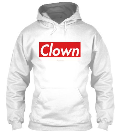Clown White Sweatshirt Front