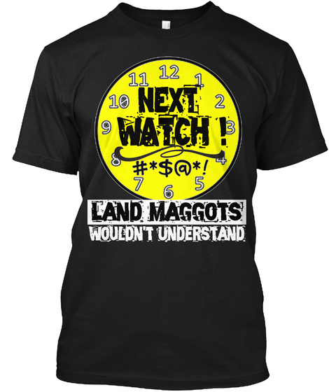 Next Watch T Shirt Black T-Shirt Front