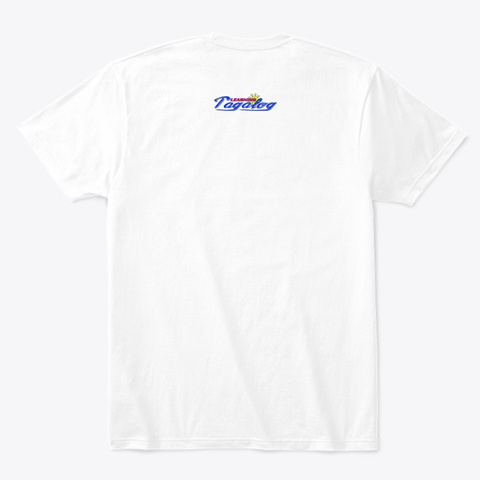 Learning Tagalog Tee White Camiseta Back