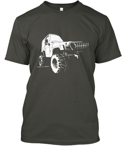 Bustin Out Wrangler Tj Style Jeep Art Smoke Gray T-Shirt Front