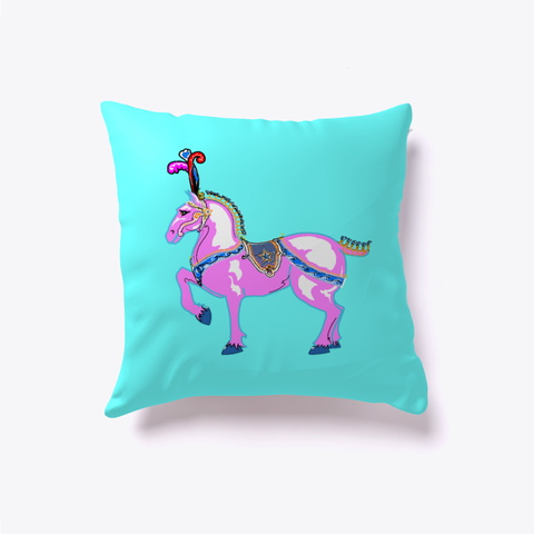 Fancy Horse Pillow 3 Pinkie White T-Shirt Front