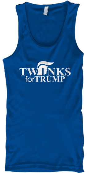 Twinks For Trump Royal T-Shirt Front