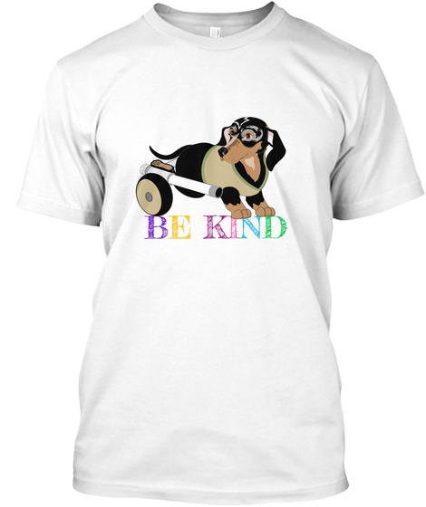 Critter Kin Be Kind Rb White T-Shirt Front