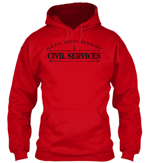 Real Men Marry Civil Services Red T-Shirt Front