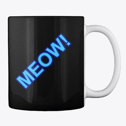 Meow Mug Black T-Shirt Back