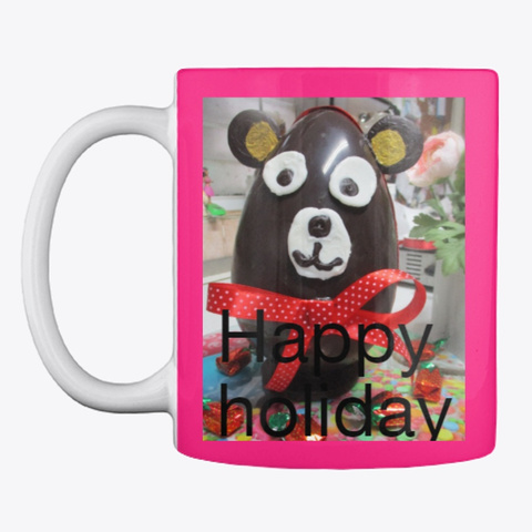 A Lovely Drinking Cup For The Holidays Hot Pink Mug Front