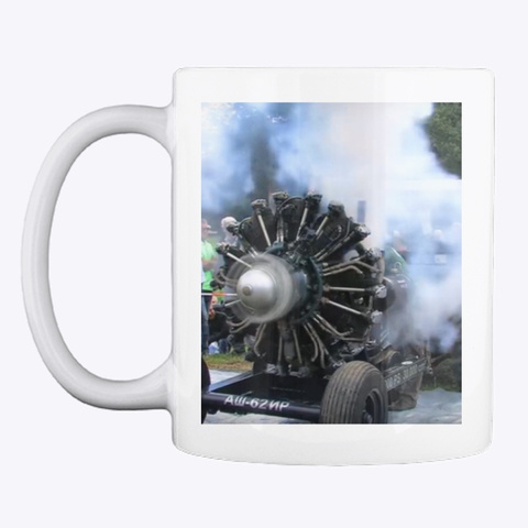 Radial Engine Mug White T-Shirt Front