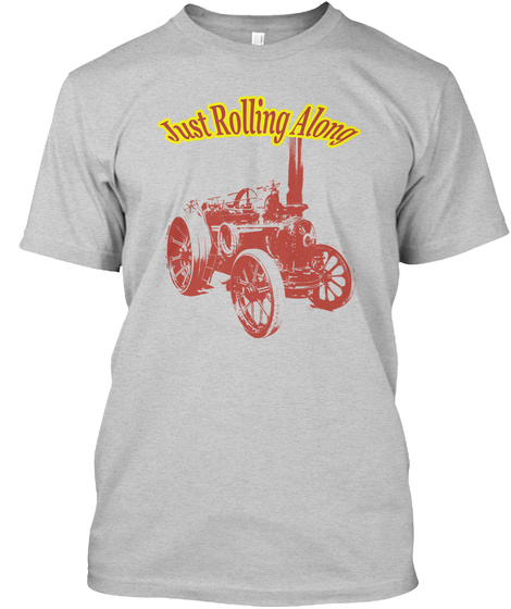 Just Rolling Along Usa Light Steel T-Shirt Front