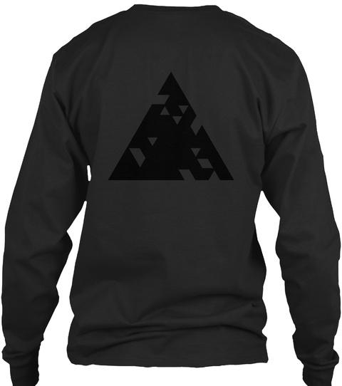 Qilla Quilla (Black On Black) Black T-Shirt Back