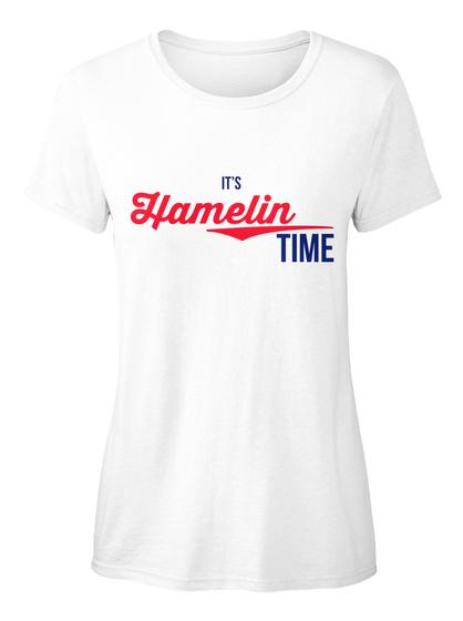 Hamelin It's Hamelin Time! Enjoy! White T-Shirt Front