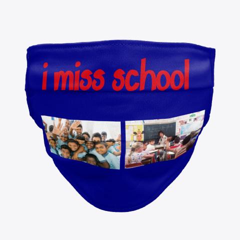 Missing School  Deep Navy T-Shirt Front