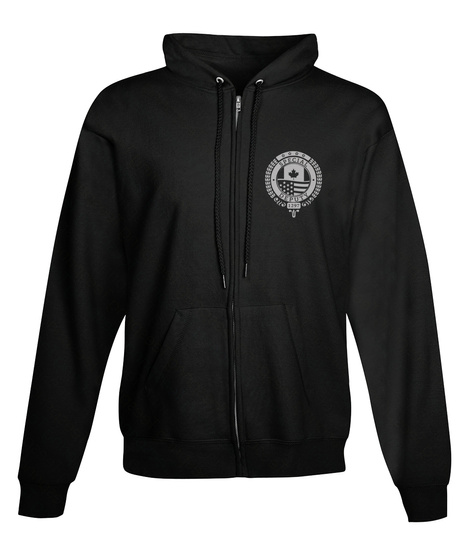 Black Badge Division   Full Zip Hoodie Black Sweatshirt Front