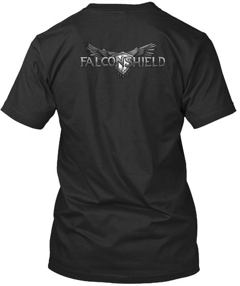 Falconshield Black T-Shirt Back
