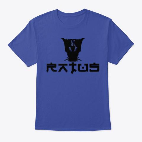 Ratus Logo Typo Deep Royal T-Shirt Front