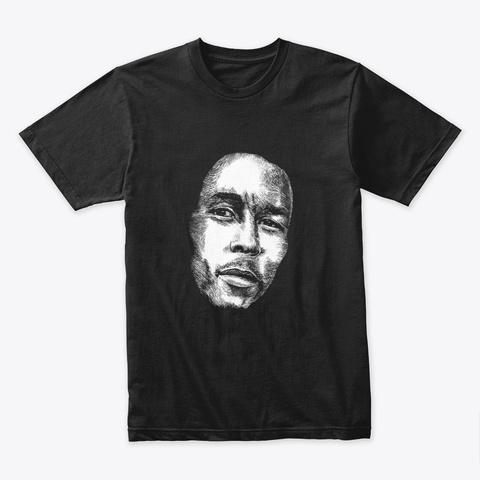 Portrait Of Bob Rastaman Black T-Shirt Front