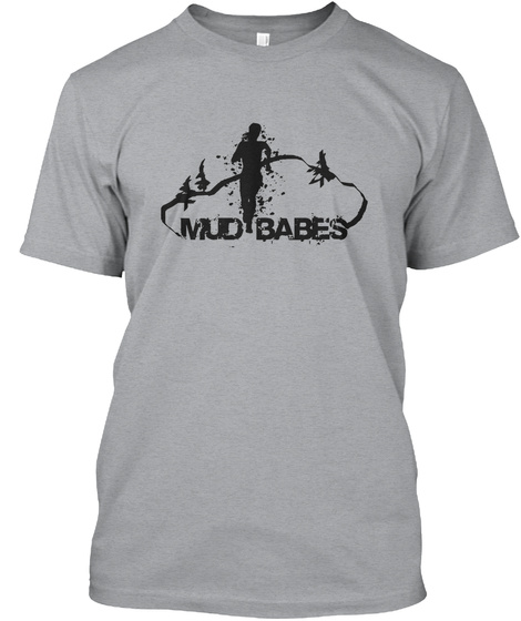 Mud Babes Heather Grey T-Shirt Front