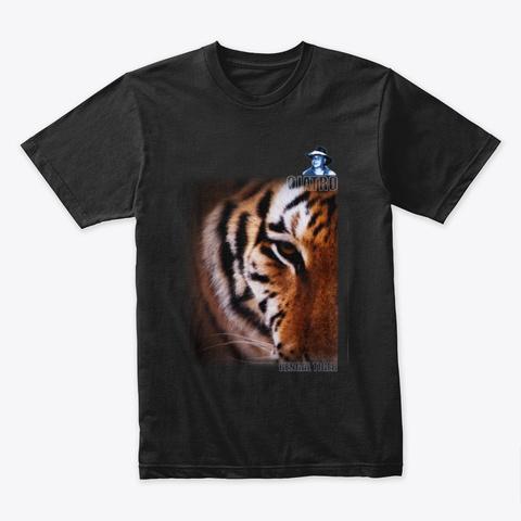 Bengal Tiger Dark 01 Black T-Shirt Front