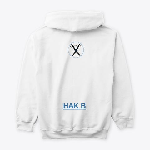 Hak B Tiger Logo   Unisex White T-Shirt Back