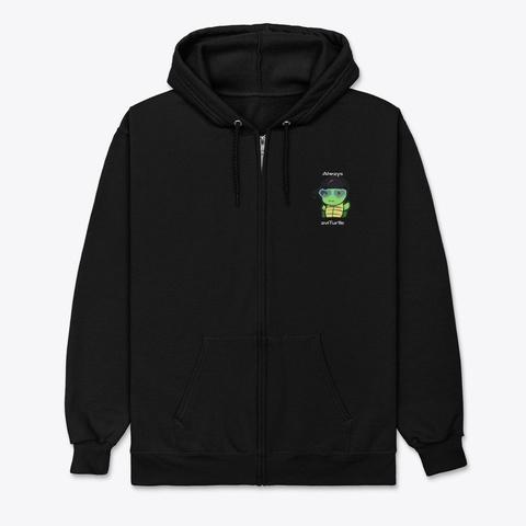 Always Avi Turtle Heuheu Black T-Shirt Front
