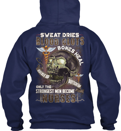 Sarcastic Nurse Navy T-Shirt Back
