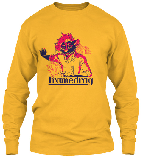 Frame Drag Gold Long Sleeve T-Shirt Front
