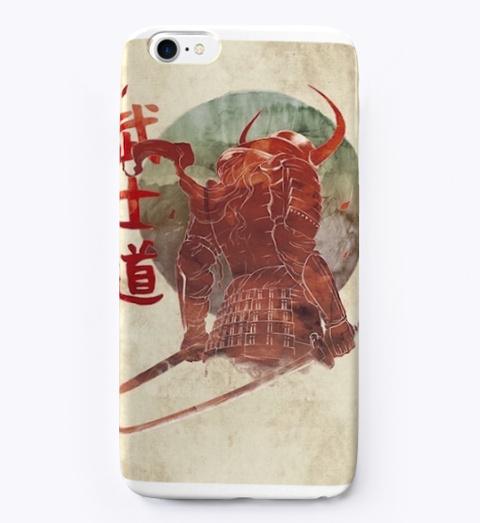 Red Samurai Phone Case Standard T-Shirt Front
