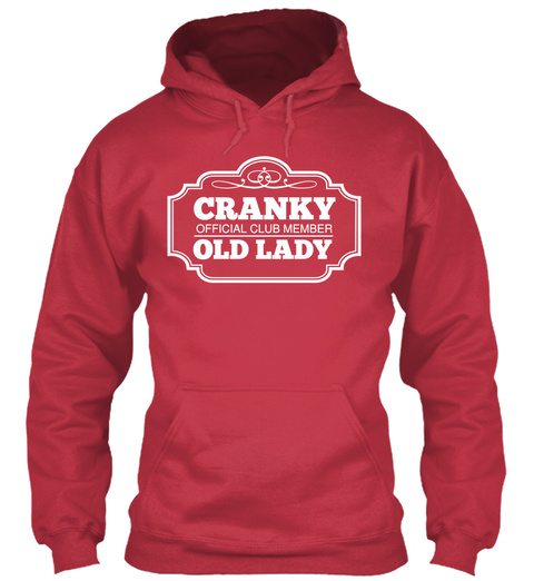 Cranky Official Club Member Old Lady Cardinal Red T-Shirt Front
