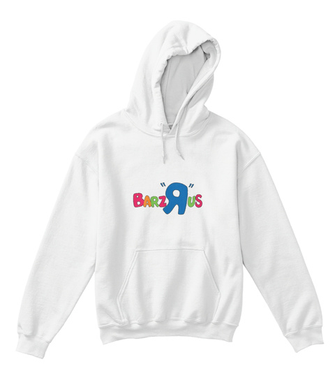 Barz Rus Official Hip Hop Kids Hoodie White T-Shirt Front