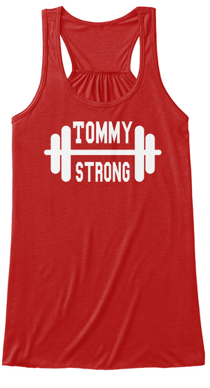 Tommy Strong Red Women's Tank Top Front